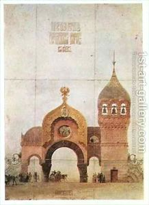 Sketch-Of-A-Gate-In-Kiev-One-Of-The-Pictures-At-An-Exhibition